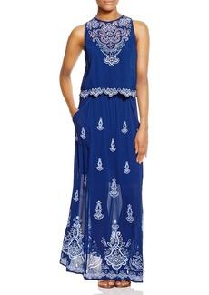 Nanette Lepore Summer Solstice Embroidered Maxi Dress