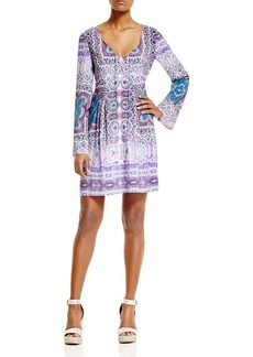 Nanette Lepore Sunlit Silk Scarf Dress