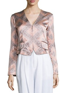 Nanette Lepore Sunset-Print Structured Jacket  Sunset-Print Structured Jacket