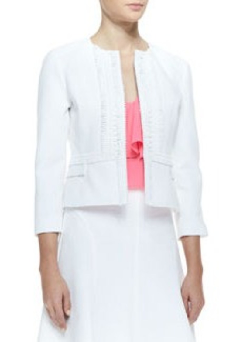 Nanette Lepore Sweet Retreat Embroidered Fitted Jacket