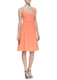 Nanette Lepore Synthesizer Pattern-Stripe Dress