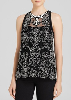 Nanette Lepore Tank - Justinian Byzantine Embroidered