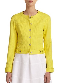 Nanette Lepore Textured Cotton Jacket