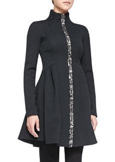 Nanette Lepore Three-Ring Coat W/ Zip Front