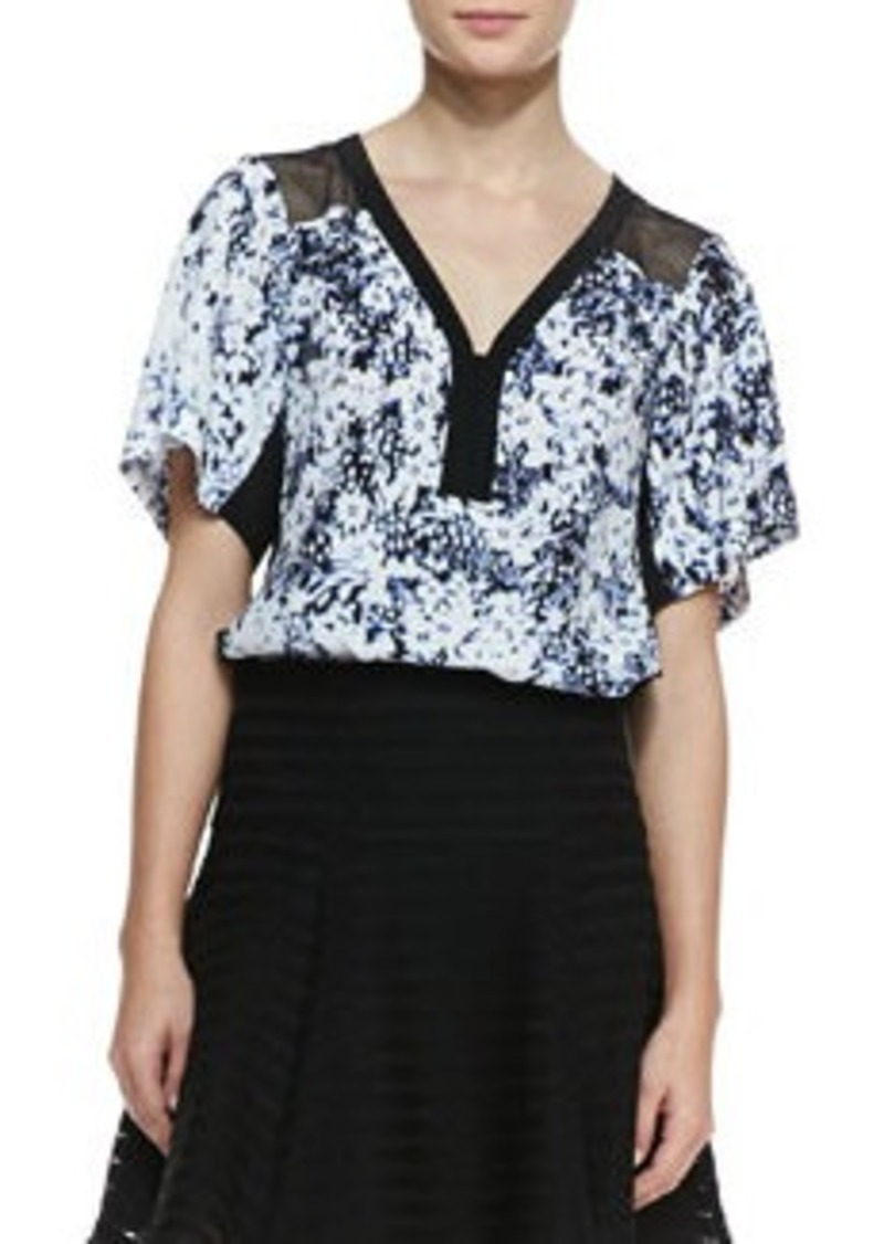 Nanette Lepore Til You Drop Floral-Print Top