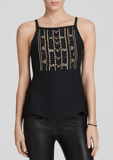 Nanette Lepore Top - City of Gold Embellished Silk