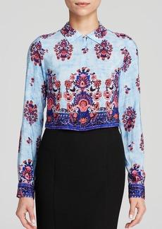 Nanette Lepore Top - Roam Free Floral Print Silk