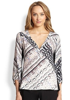 Nanette Lepore Trek Printed Woven Pullover