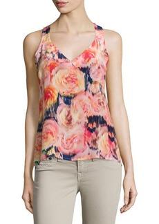 Nanette Lepore V-Neck Floral-Print Top  V-Neck Floral-Print Top