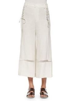 Nanette Lepore Venzuela Lace-Up Capri Pants