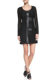 Nanette Lepore Wasn't Me Patchwork Long-Sleeve Dress
