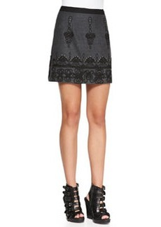 Nanette Lepore Whirling Dervish Embroidered Miniskirt