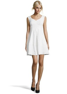 Nanette Lepore white cotton blend embroidered 'Artisan' dress