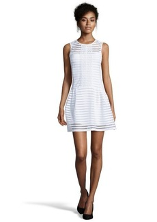 Nanette Lepore white stretch chiffon 'Match Point' fit and flare dress