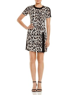 Nanette Lepore Wildlife Zip Skirt Leopard Print Dress