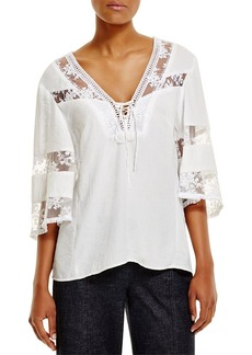 Nanette Lepore Wind Song Lace-Inset Top