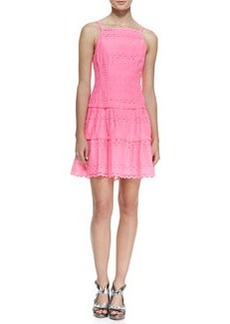 Nanette Lepore Wind Swept Tiered Cotton Eyelet Dress