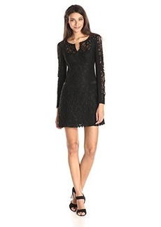 Nanette Lepore Women's Adora Flor Lace Long Sleeve Sheath Dress