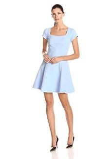 Nanette Lepore Women's Adventure Seeker Textured Knit Fit and Flare Dress, Blue Sky, 10
