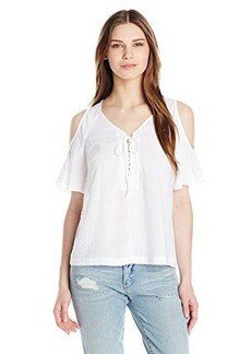 Nanette Lepore Women's Amiga Cold Shoulder Blouse, White, Small