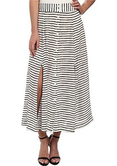Nanette Lepore Women's Au Revoir Silk Skirt, White/Black, 10