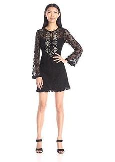 Nanette Lepore Women's Bamboo Beaded Dress, Black, 12