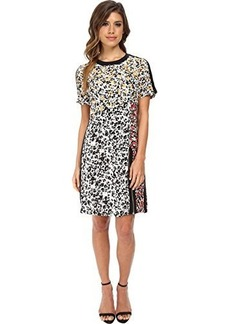 Nanette Lepore Women's Barcelona Babe Floral Mix Silk Dress, Black/Multi, 0