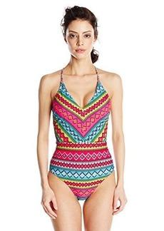 Nanette Lepore Women's Bayamo Goddess Over The Shoulder One Piece Swimsuit