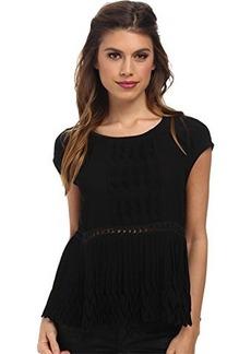 Nanette Lepore Women's Bazaar Blouse Black Blouse MD