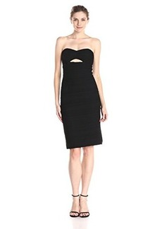 Nanette Lepore Women's Bombshell Textured Knit Strapless Cocktail Dress, Black, 8