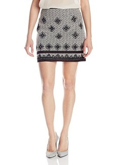 Nanette Lepore Women's Bull Whip Embroidered Mini Skirt