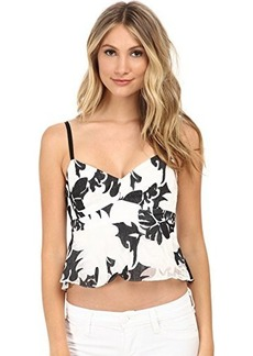 Nanette Lepore Women's Castaway Floral Organza Ruffled Cami Top, White/Multi, 8
