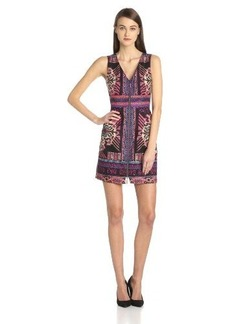 Nanette Lepore Women's Chantway Mezcal Print Sleeveless V-Neck Dress