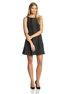 Nanette Lepore Women's Clandestine Tweed Fit-and-Flare Sleeveless Dress