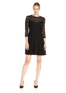 Nanette Lepore Women's Coffeehouse Dress, Black, 4