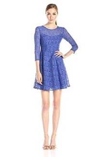 Nanette Lepore Women's Coffeehouse Dress, Cornflower, 12