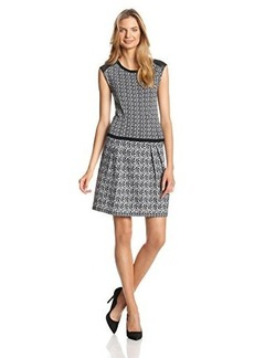 Nanette Lepore Women's Composition-Knit Sheath Dress