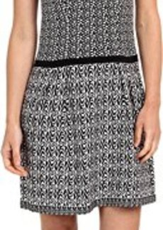 Nanette Lepore Women's Composition Knit Sheath Dress, Black/White, Medium