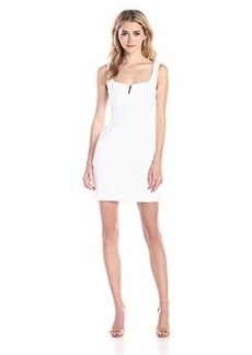 Nanette Lepore Women's Cool-Down Pique Corset Dress, White, 0