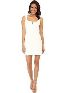 Nanette Lepore Women's Cool-Down Pique Corset Dress, White, 14