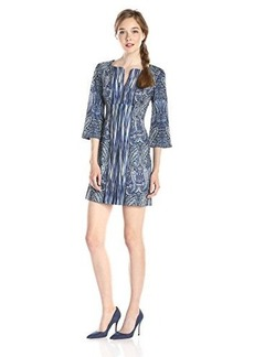 Nanette Lepore Women's Cosmic Paisley Tunic Dress, Indigo Multi, 4