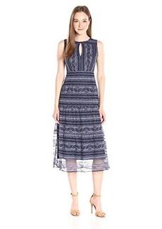 Nanette Lepore Women's Dewdrop Dress, Blue/Purple Multi, 14