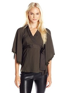 Nanette Lepore Women's Endless Love Top, Olive, 8
