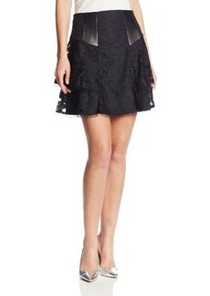 Nanette Lepore Women's Falling For You Lace Flare Skirt