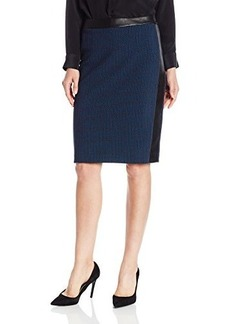 Nanette Lepore Women's Feel A Hunch Jacquard Pencil Skirt, Midnight Multi, 0
