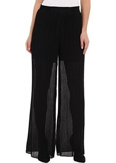 Nanette Lepore Women's Ferris Wheel Pleated Wide Leg Pant, Black, 2