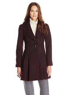 Nanette Lepore Women's Flare and Toggle Wool Coat