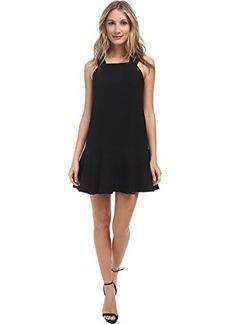 Nanette Lepore Women's Floating Cloud Textured Knit Drop Waist Dress, Black, 8