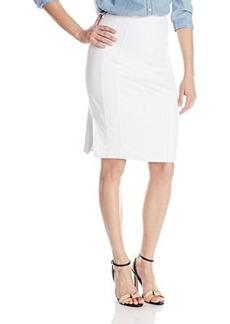 Nanette Lepore Women's Heart Slayer Seamed Twill Pencil Skirt, White, 8