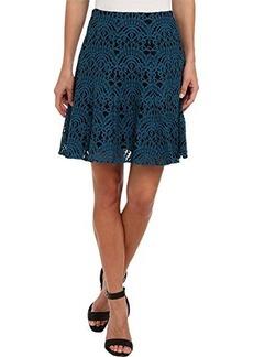 Nanette Lepore Women's I Spy Skirt Cyan Skirt 10